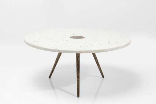 Table Basse Terrazzo Blanc APPLETON - Table basse design
