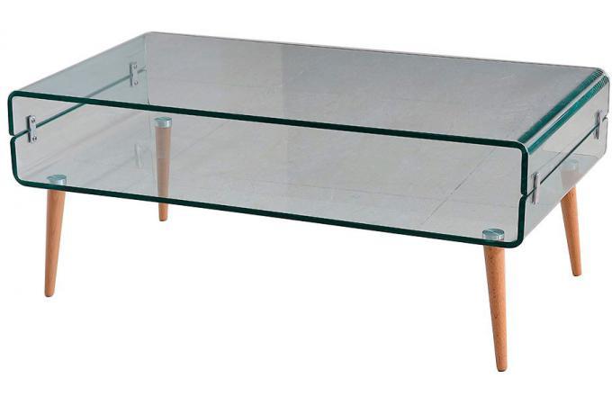 Table Basse Verre Bois Loona Plus D Infos