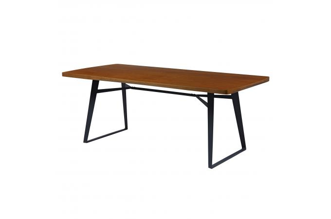 table bois ch ne et m tal noir l200cm sensa table. Black Bedroom Furniture Sets. Home Design Ideas