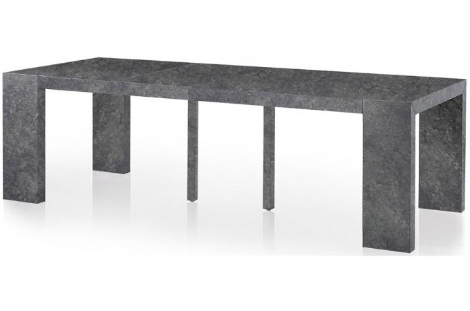 console extensible b ton 250cm mat chicago table console pas cher. Black Bedroom Furniture Sets. Home Design Ideas