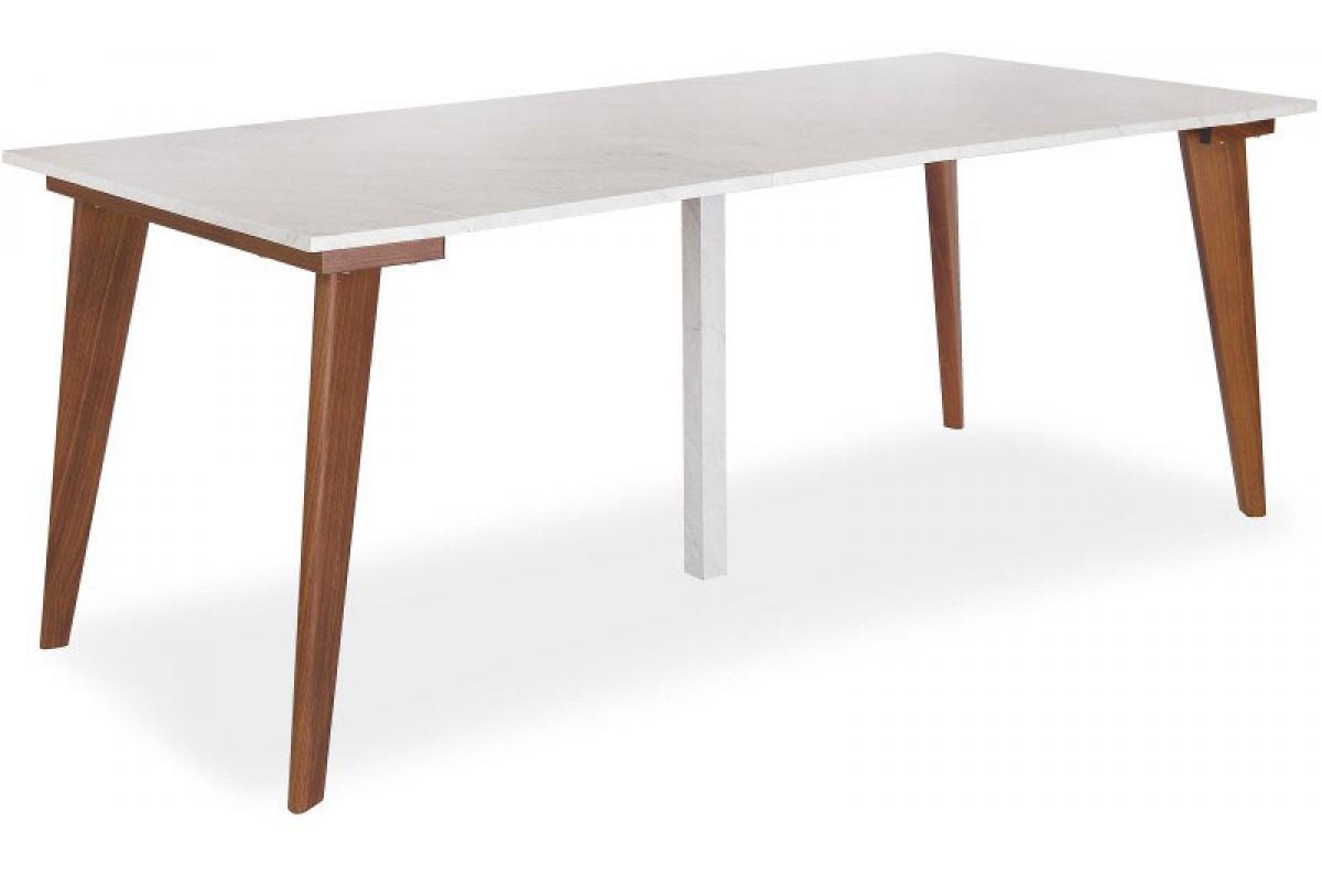 Table Console Extensible Effet Marbre et Marron SONAR Plus d\'infos