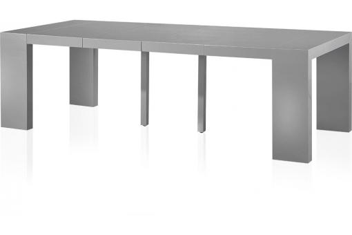 Table console extensible gris laqu 4 rallonges nicky table console pas cher - Console extensible gris laque ...
