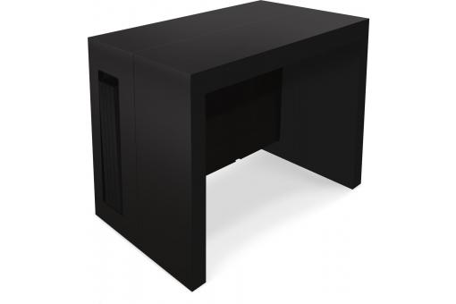 Table Console Extensible Noir Mat CHAD - Meuble gain de place