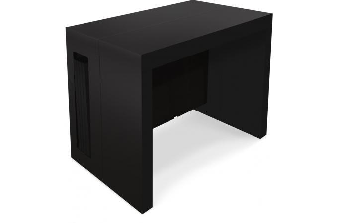 Table Console Extensible 3 Mètres Noir Mat Chad Plus D Infos