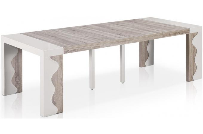 Table basse laquee ivoire - Table laquee extensible ...
