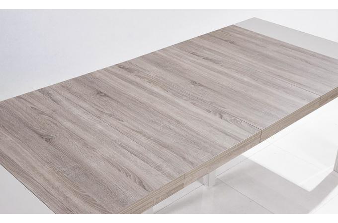 console extensible blanche bicolore 250cm laque chicago table console pas cher. Black Bedroom Furniture Sets. Home Design Ideas