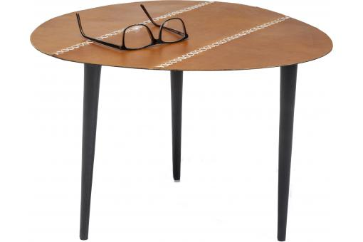 Table D'Appoint En Cuir 46X50Cm EGG