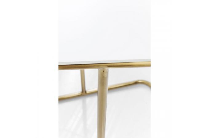 table d 39 appoint kare design blanche et dor e gardenparty. Black Bedroom Furniture Sets. Home Design Ideas