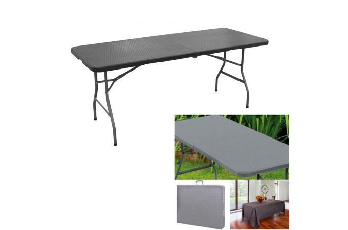 table manger pliable portable gris kaala table. Black Bedroom Furniture Sets. Home Design Ideas