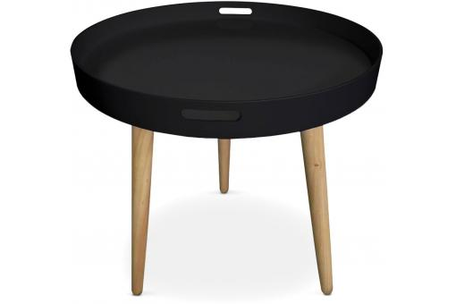 Table D'Appoint Ronde Style Scandinave Noir SAMPLE