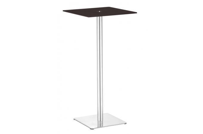 table de bar en verre noire pied carr bula table de bar. Black Bedroom Furniture Sets. Home Design Ideas