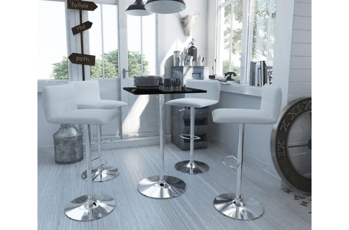 table de bar noire pied rond perchoir table de bar pas cher. Black Bedroom Furniture Sets. Home Design Ideas