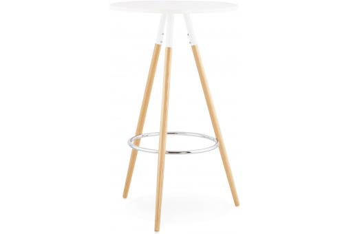 Table De Bar Scandinave Blanche ROSNA - Table design