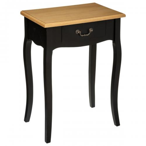 Table de Chevet 1 Tiroir Noir Chrysa - Table de chevet design