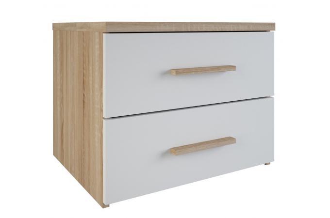 table de chevet 2 tiroirs ch meubles en ligne. Black Bedroom Furniture Sets. Home Design Ideas