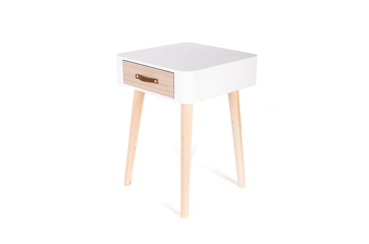 Table De Chevet Miroir Pas Cher table de chevet blanche en bois rukia - table de chevet pas cher