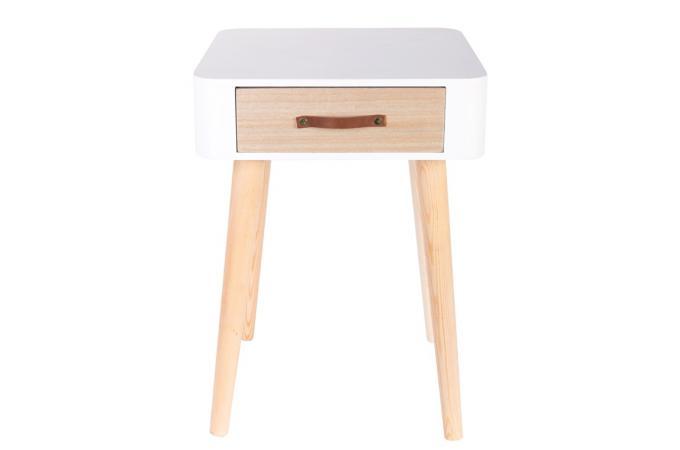 table de chevet blanche en bois rukia table de chevet. Black Bedroom Furniture Sets. Home Design Ideas