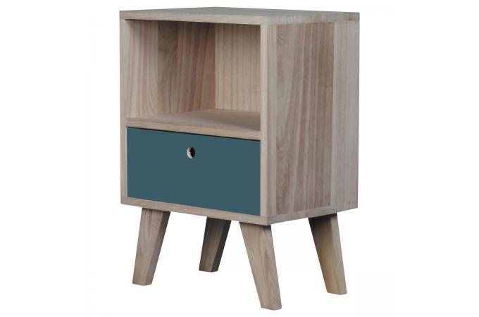 table de chevet bois bleu montreal table de chevet pas cher. Black Bedroom Furniture Sets. Home Design Ideas