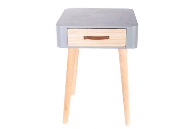 table de chevet grise en bois rukia table de chevet pas cher. Black Bedroom Furniture Sets. Home Design Ideas