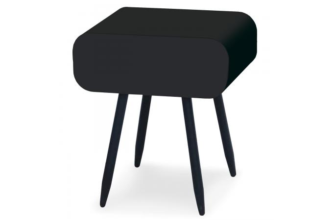 table de chevet m tal noir 1 tiroir maxime table de chevet pas cher. Black Bedroom Furniture Sets. Home Design Ideas