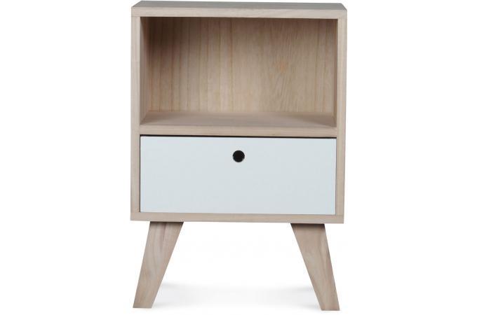 Table de chevet style scandinave en bois 1 tiroir 36x25x50 montreal table d 39 appoint pas cher - Table de chevet style scandinave ...