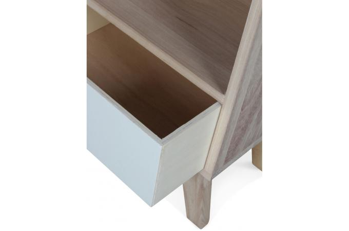 Table de Chevet Bois Blanc MONTREAL - Table d Appoint Pas Cher 2f29168398e3