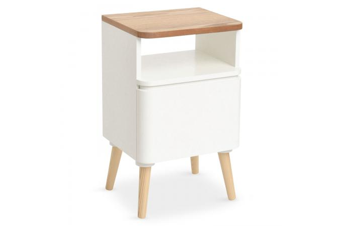 table de chevet scandinave bois blanc achumawi table de. Black Bedroom Furniture Sets. Home Design Ideas