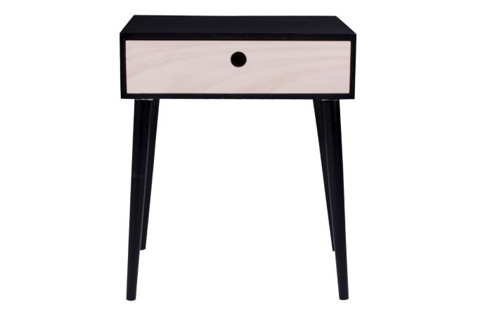 Table de chevet scandinave noire etrenne table de chevet for Table de chevet noire