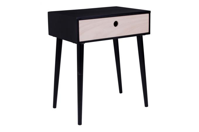 Table de chevet scandinave noire etrenne table de chevet - Table de chevet noire ...