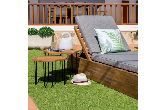 Table de Jardin Hexagonale Acacia SELMA Plus d\'infos