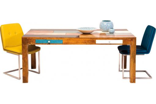 Table de Repas Multicolore en Bois Beverly 180X90 cm