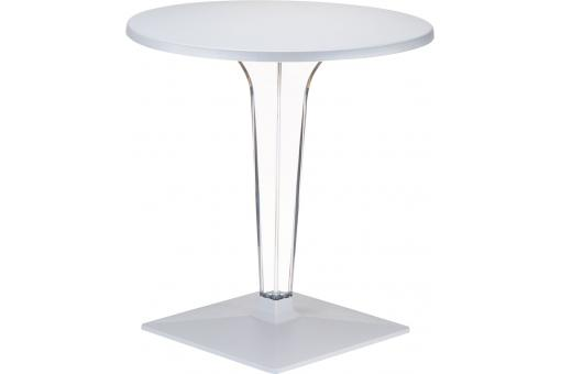 Table design grise argent ISIS