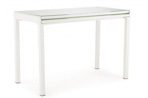 Table Extensible Verre Blanc LAVALLEJA - Meuble gain de place