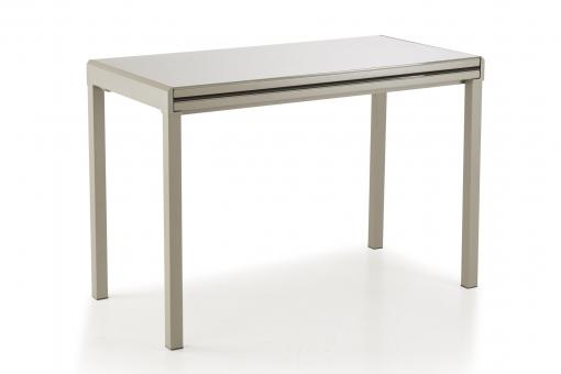 Table Extensible Verre Taupe LAVALLEJA
