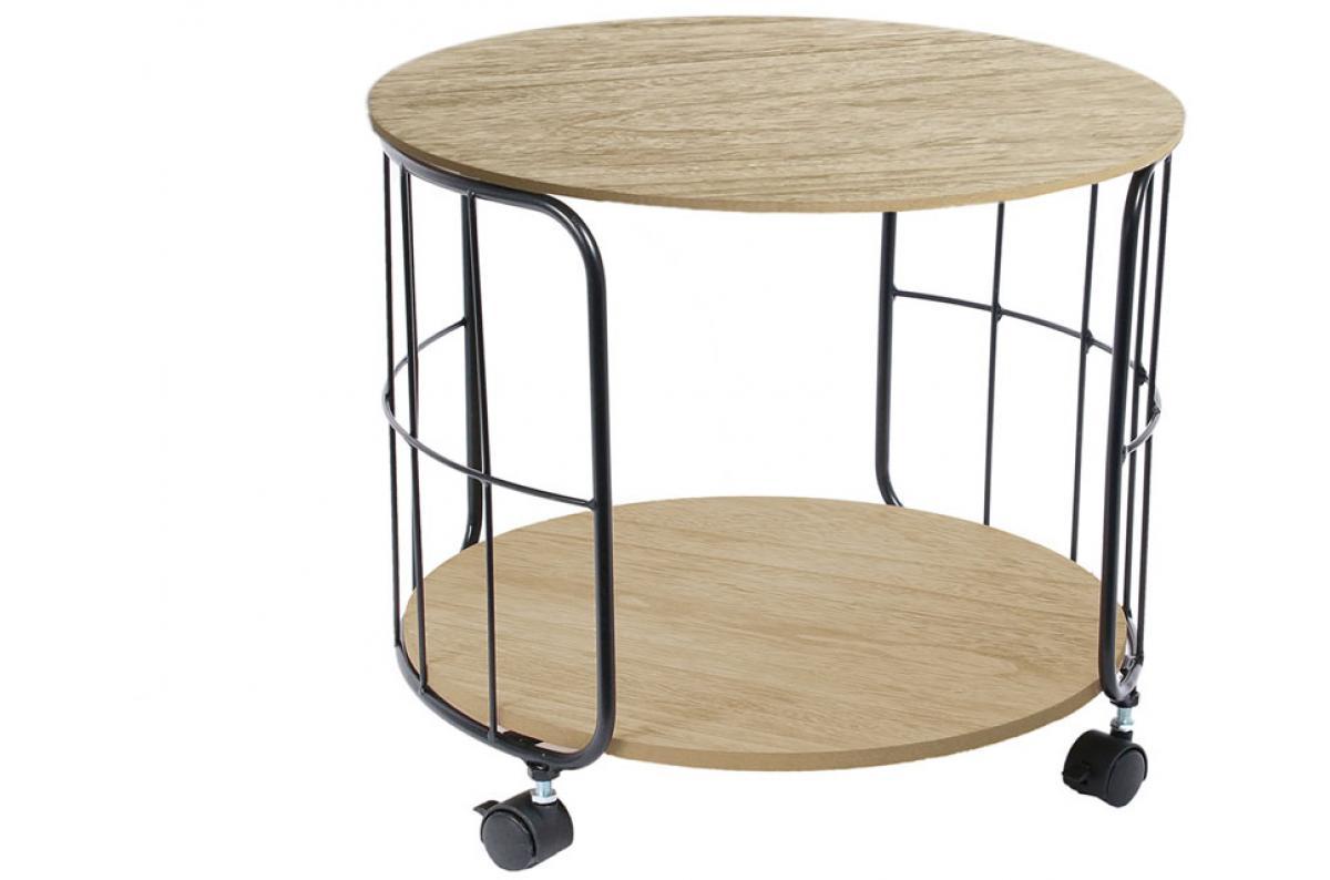 Table Industrielle Ronde à Roulettes D38cm Noisette Plus D Infos