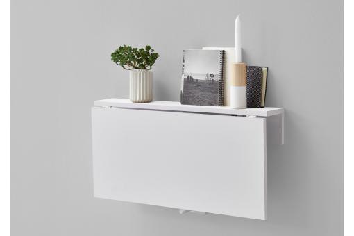 Table Murale Pliante Blanc Brillant Sciane Plus Dinfos