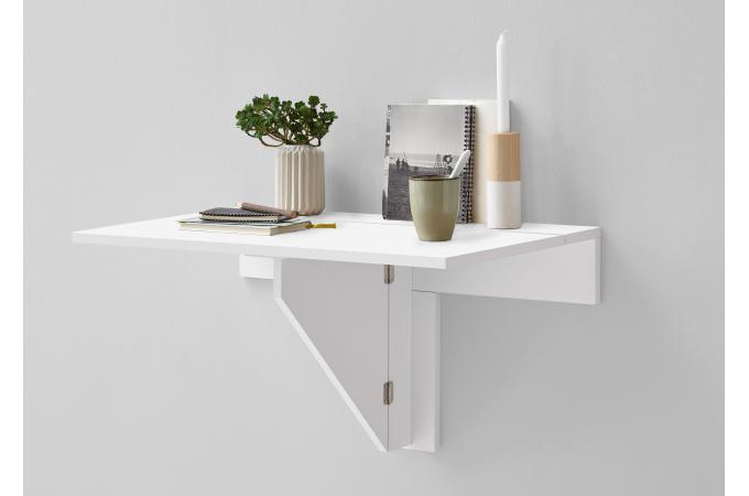 table murale pliante blanc brillant sciane table. Black Bedroom Furniture Sets. Home Design Ideas