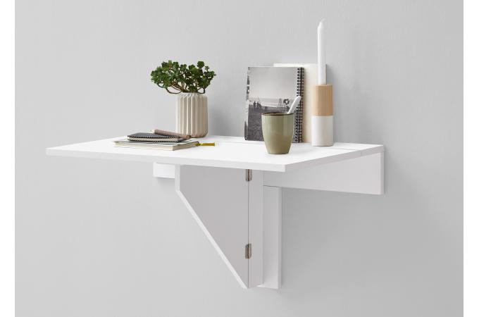table murale pliante blanc brillant sciane table relevable pas cher. Black Bedroom Furniture Sets. Home Design Ideas