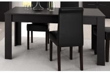 Table Noire 90x170 LAMBERT - Table a manger noir