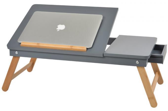 table ordinateur nomade grise accessoire caisson. Black Bedroom Furniture Sets. Home Design Ideas