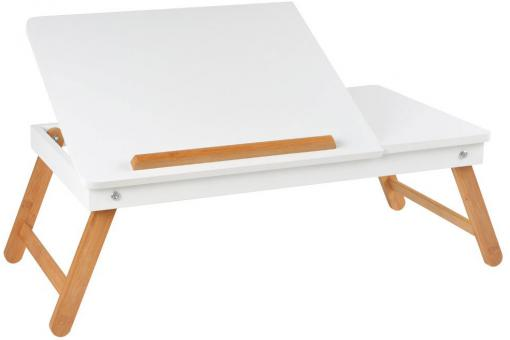 Table ordinateur nomade blanche