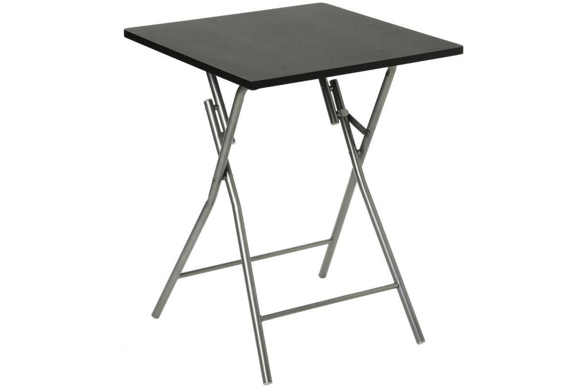 Table Pliante Noir Pietement En Acier Argent Practy Table Salle
