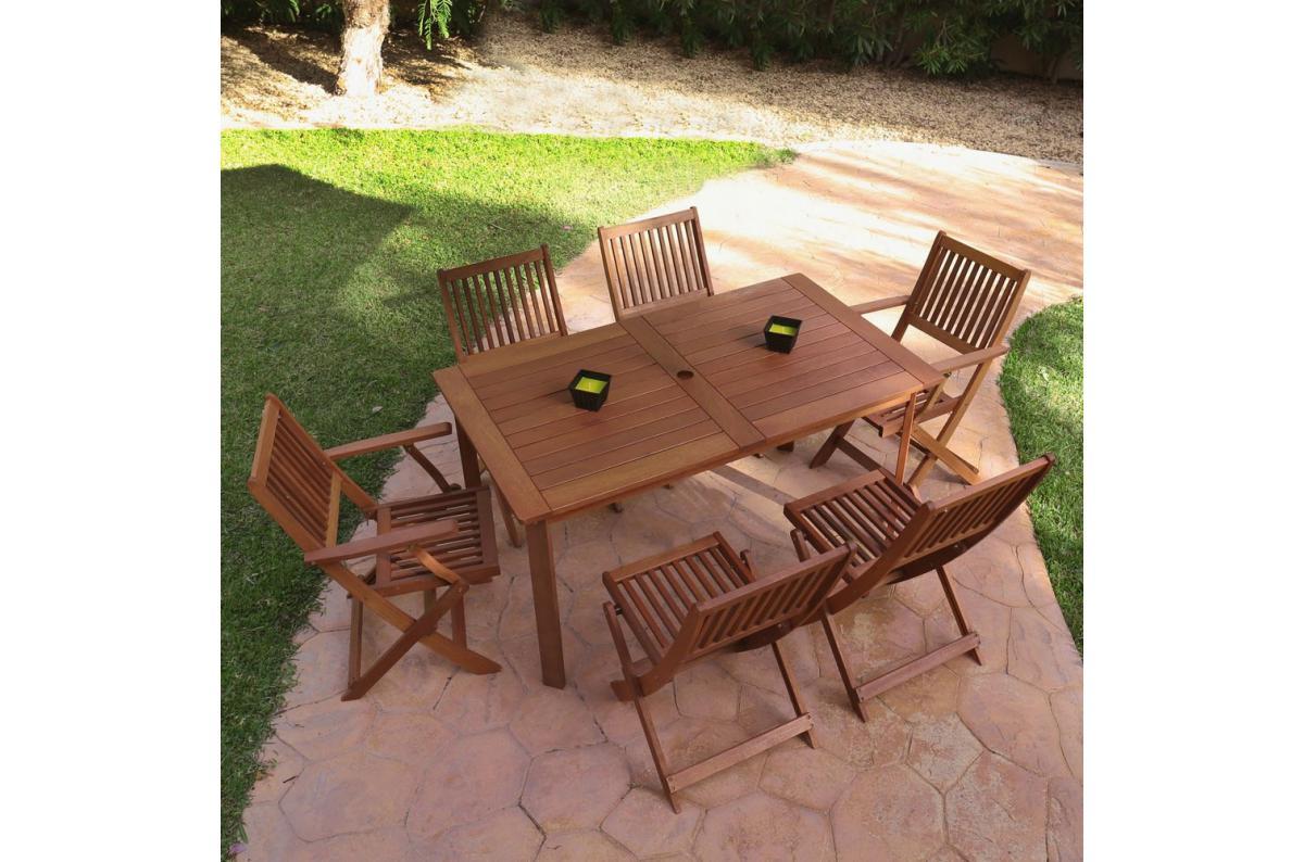 Table Rectangulaire Extérieure Bois JULIETTE - Table de ...