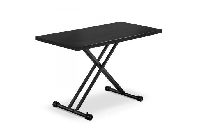 Table Rectangulaire Réglable En Hauteur Noir Mat Bargny Table