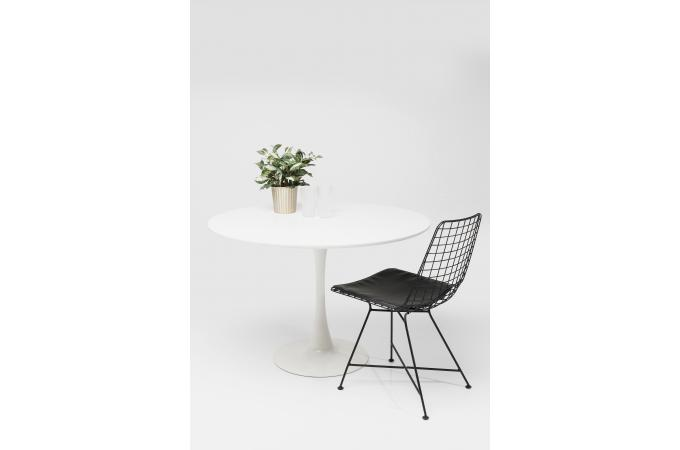 Table Ronde 110 Blanc Laque Madison Plus D Infos