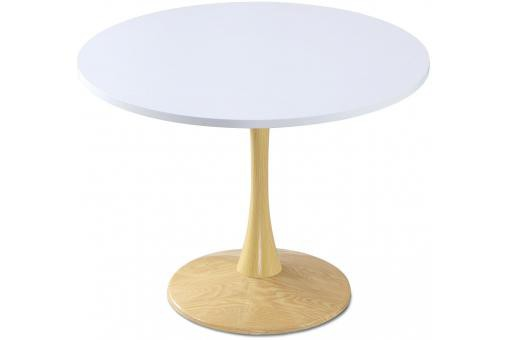 Table ronde Chêne et Blanc OMBRELLO - Table design