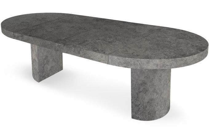 Table ronde extensible effet b ton wael table manger pas cher - Table a manger effet beton ...