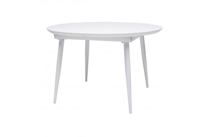 table ronde extensible laqu e blanche d120cm diana table. Black Bedroom Furniture Sets. Home Design Ideas
