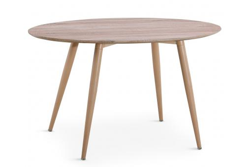 Table Ovale Scandinave Effet Chêne WAEL - Table design