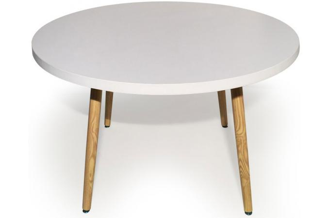 table ronde style scandinave blanc blondie table. Black Bedroom Furniture Sets. Home Design Ideas
